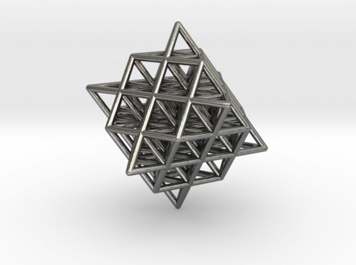 Isometric Vector Matrix - 64 Tetrahedron Grid  3d printed