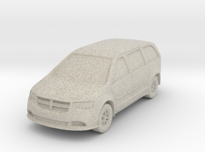 "Minivan at 1""=16' Scale 3d printed"