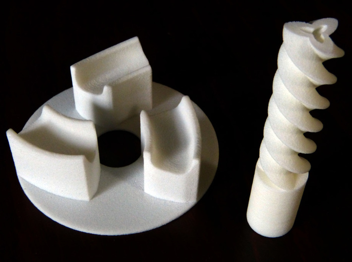 Base plate and axle for Triple gear (polished)  3d printed