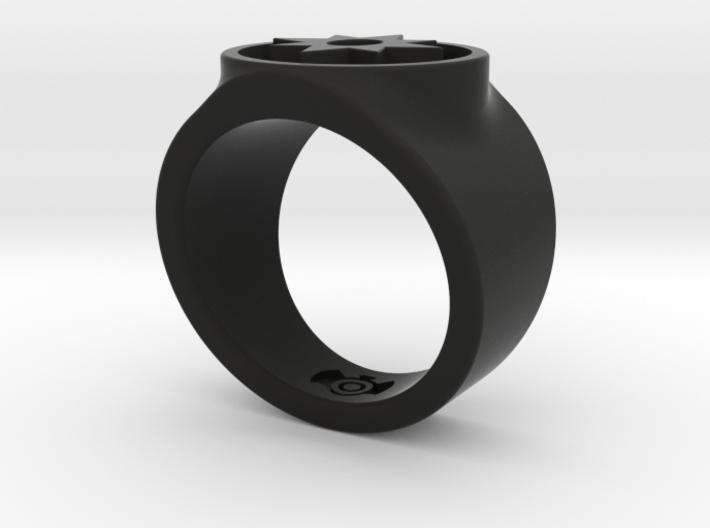 Love Star Saphire GL Ring Sz 7 3d printed