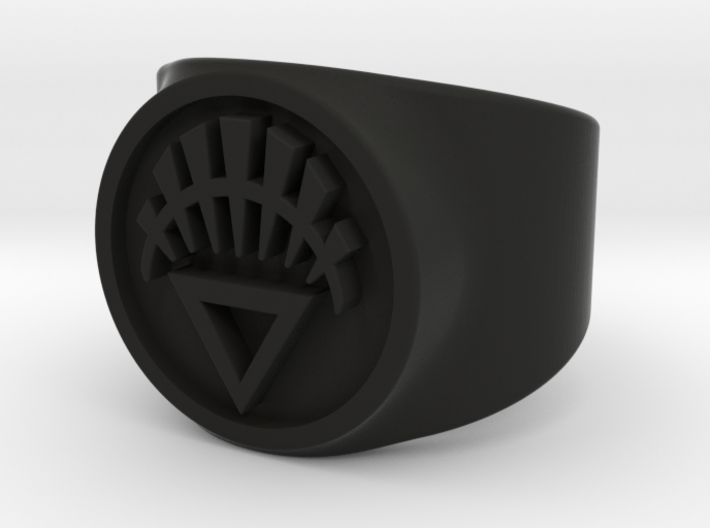 White Life GL Ring Sz 5 3d printed