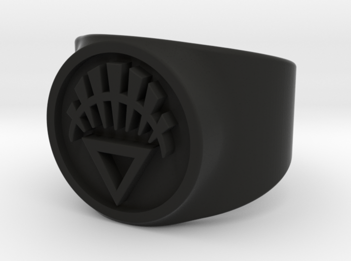 White Life GL Ring Sz 6 3d printed