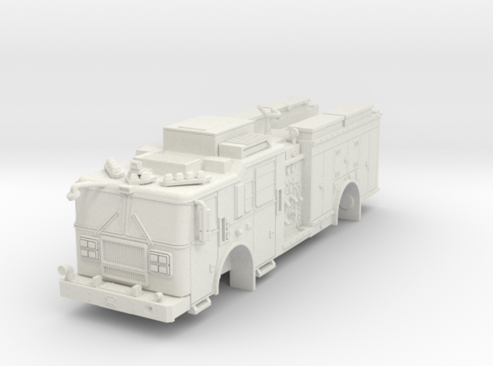 1/87 SeaGrave MII Squad (no Wheels) FDNY like 3d printed