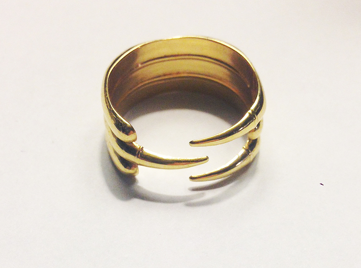 Claw Ring - Sz. 10 3d printed