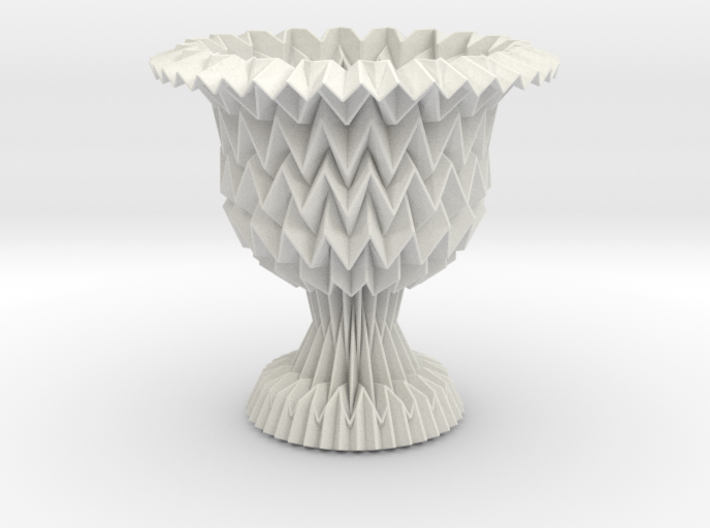 Cup / Vase Tessellated With Closed Center 3d printed