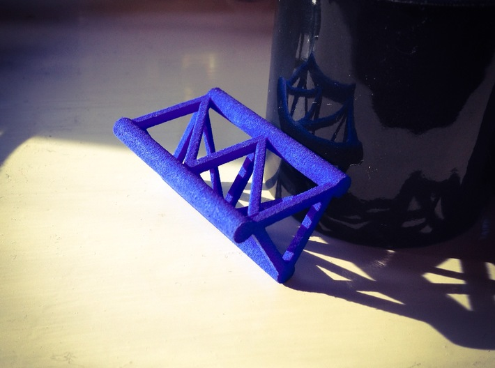 Small Roller Coaster paperweight (tri-rail track) 3d printed Printed in blue strong and flexible plastic