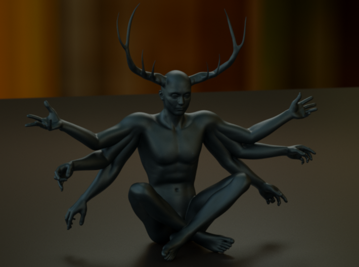 38mm Six Armed Stag 3d printed Artistic Render