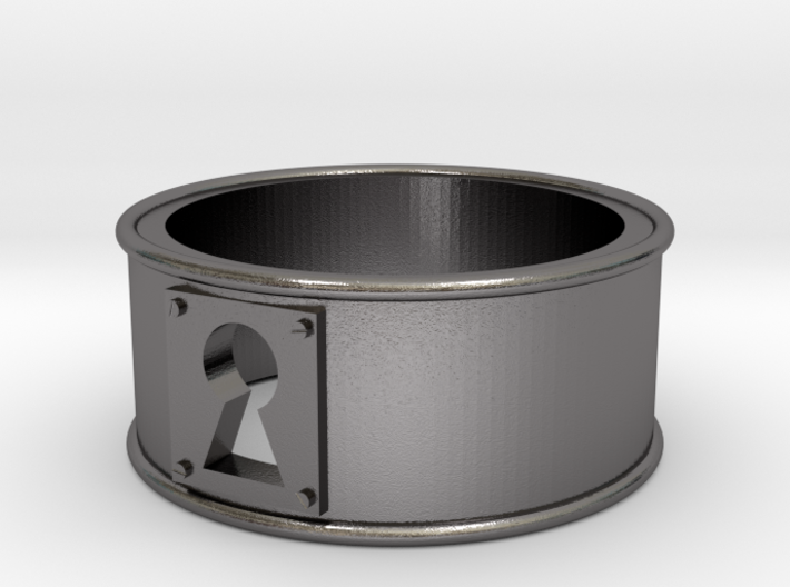 KeyHole Band Ring Size 7 3d printed