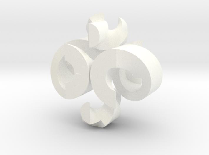 """Helix Burr v2 (16 moves, 2"""" version) 3d printed"""