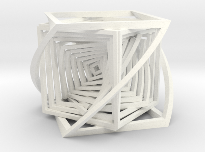 The Bend Cube.  3d printed
