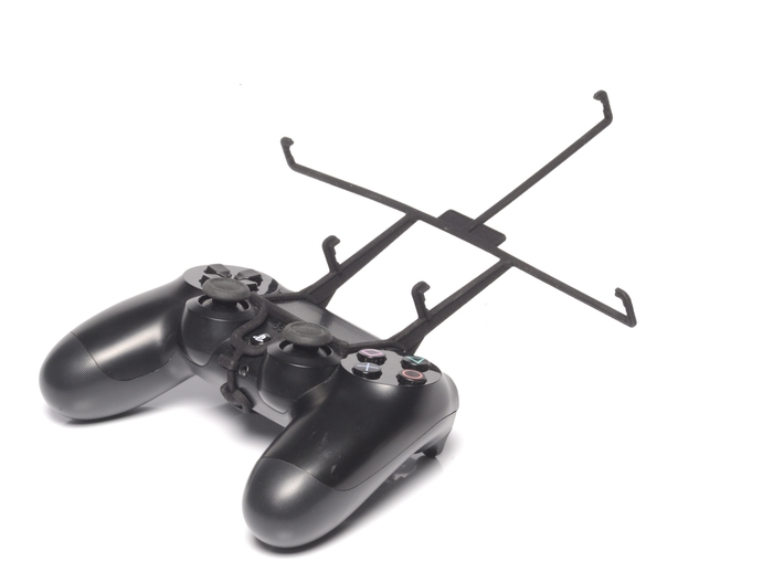PS4 controller & Plum Z710 3d printed Without phone - A Nexus 7 and a black PS4 controller