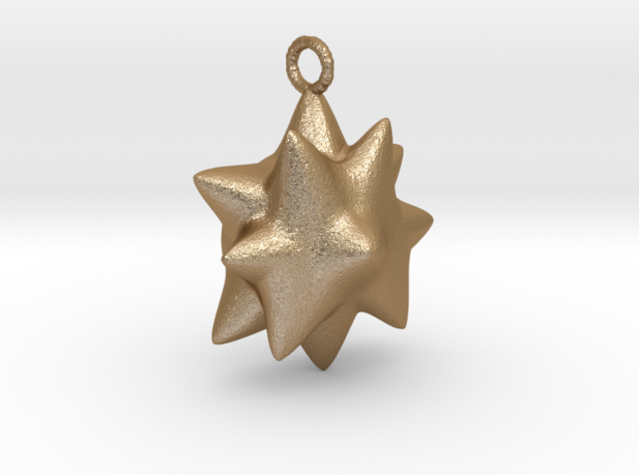 Chubby Star Pendant. 3d printed