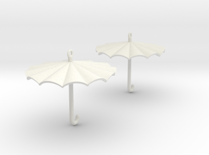 Umbrella Earrings 3d printed