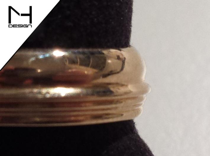 Custom Face Profile Ring 3d printed