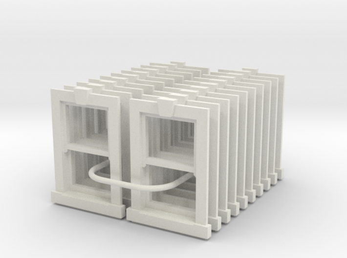 Type X2 Windows 1200 x 900 - 4mm Scale 3d printed