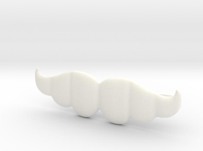 """""""Brazilian"""" Moustache Tie Bar (Plastics) 3d printed"""