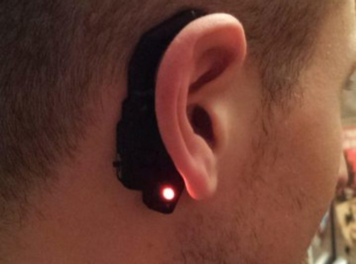 Star Lord Earpiece - Ready for LEDs and Battery. 3d printed Printed on my home 3d printer in PLA.
