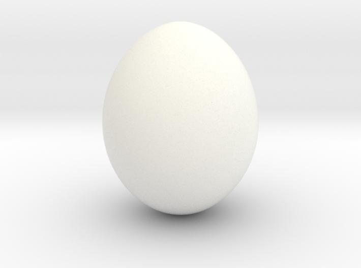 Shiny Cow Bird Egg - smooth 3d printed