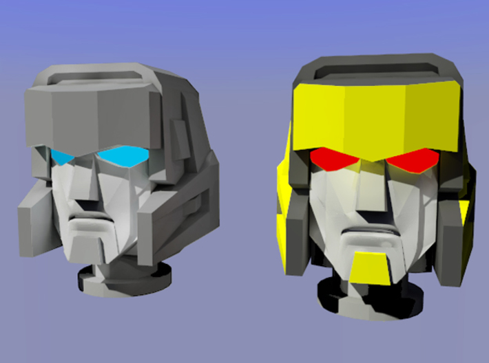 Gen. Windcharger/Decepticharge Head 3d printed