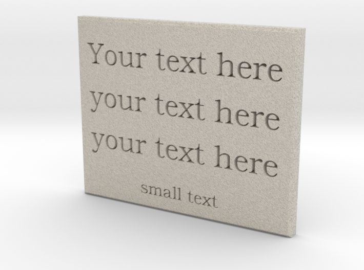 Your Text here (Sandstone) 3d printed