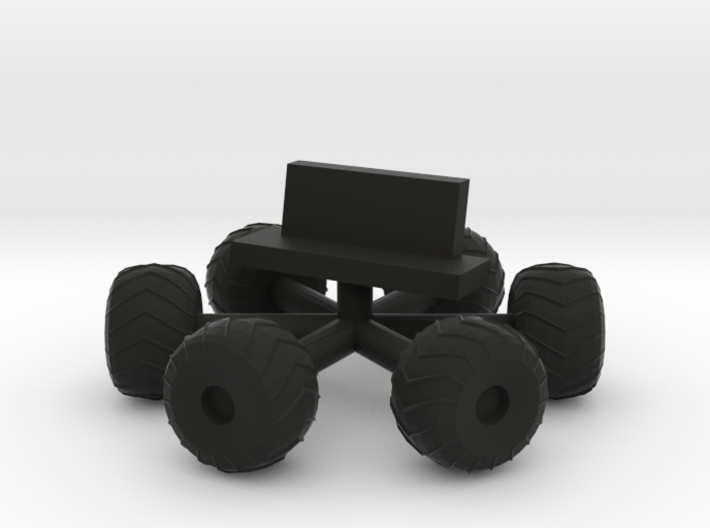 "Amphi-cat Moonbuggy Wheels & Seat for 12"" Eagle 3d printed"