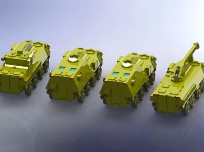 Ukranian APC BTR-4 Company Command Group 1/285 6mm 3d printed Add a caption...