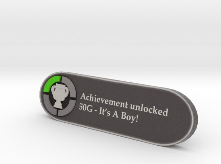 Achievement it's a boy 3d printed