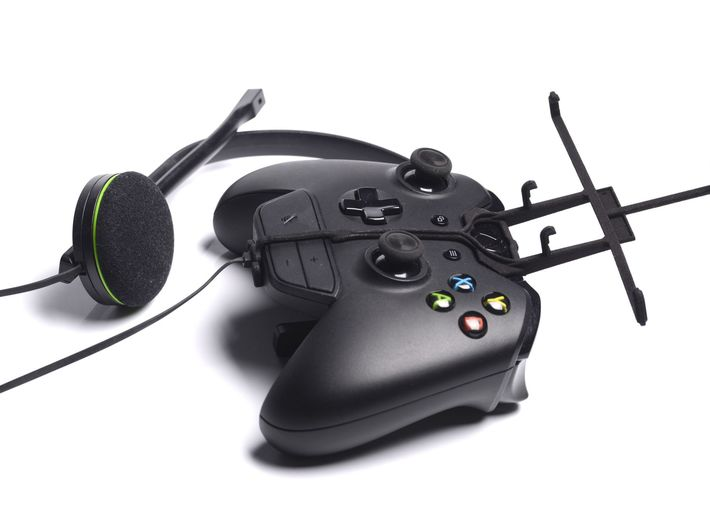 Xbox One controller & chat & Plum Trigger 3d printed Without phone - A Samsung Galaxy S3 and a black Xbox One controller & chat