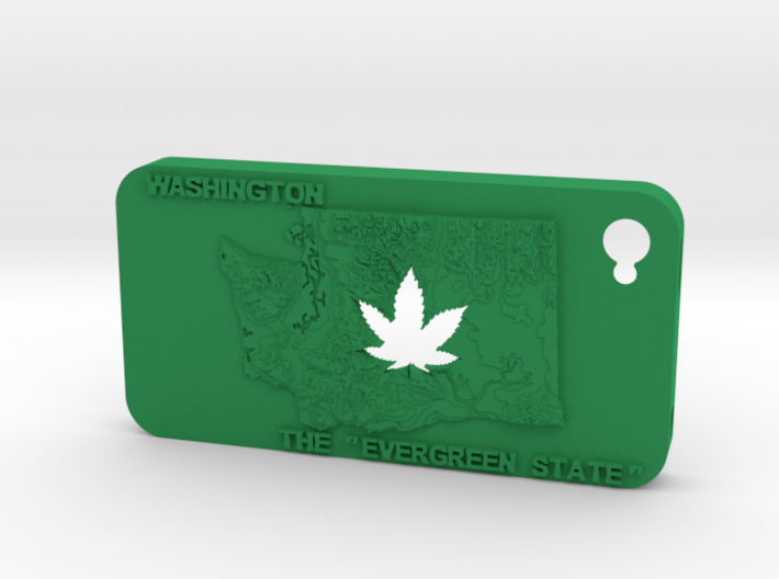 iPhone 4 Washington Marijuana Leaf 3d printed