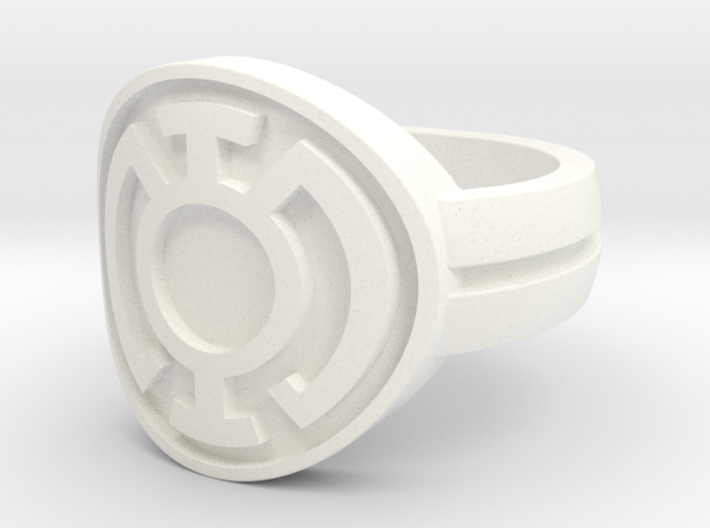 Blue Lantern Double Banded Sz 7 3d printed