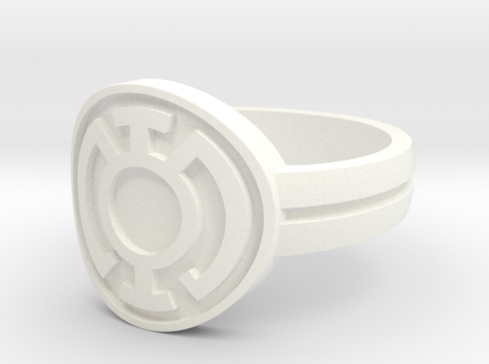 Blue Lantern Double Banded Sz 15 3d printed