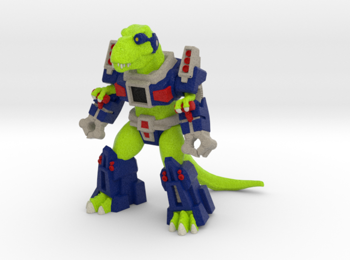 Rampager Rex (Colored Sandstone) 3d printed