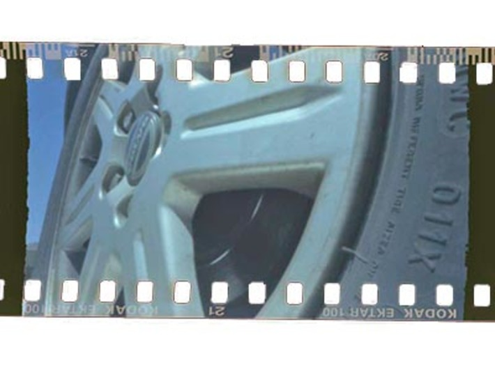 35mm Film to 120 Spool Adapter 3d printed Sample image with sprocket holes exposed