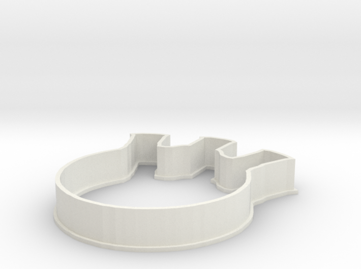Flask Cookie Cutter 3d printed