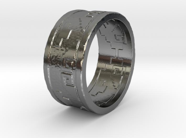 Aztec Ring 3d printed