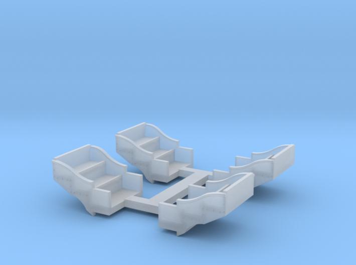 O Scale L&WV STEPWELLS 3d printed