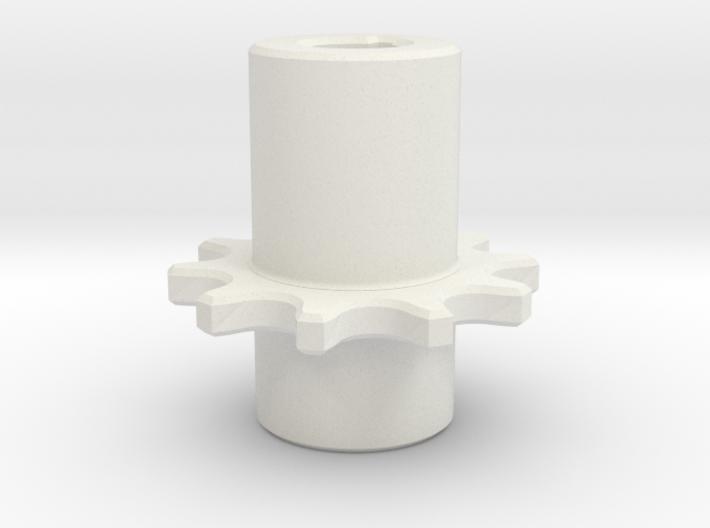 Chain Pinion P=8 Z=10 Ør=5 ISO-R 606 - DIN 8187 3d printed