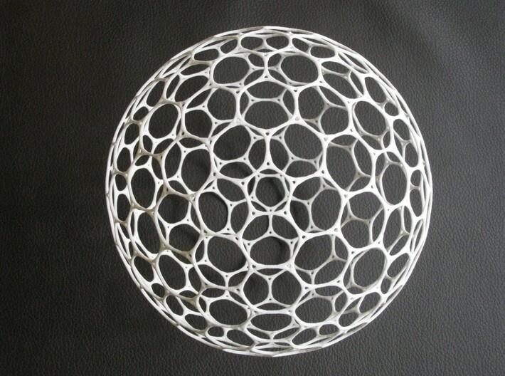 Geosphere ball 15cm holes 3d printed