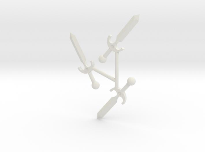 Tri-Daggers 3d printed