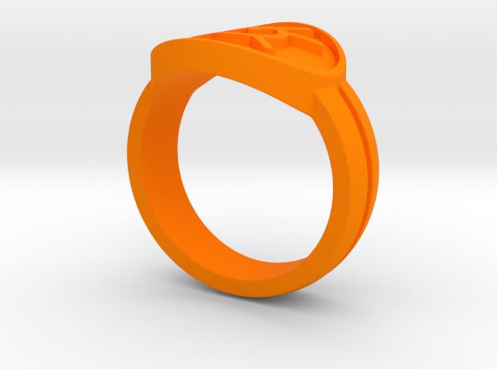 Orange Avarice Double Banded Sz 8 3d printed