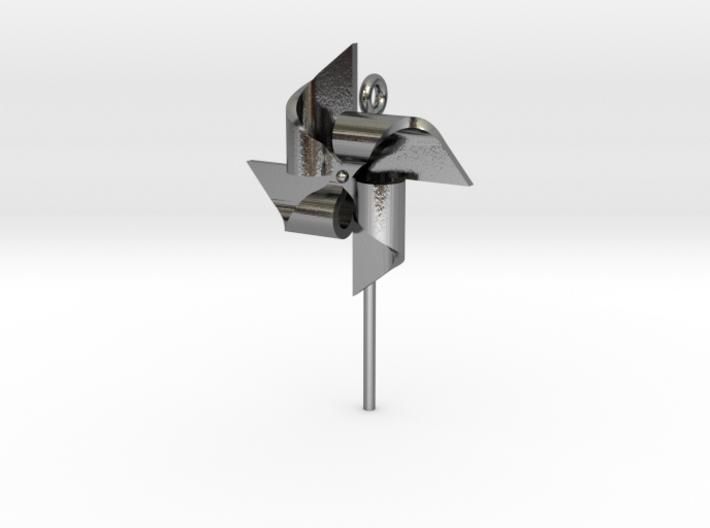 Pendant Pinwheel 3d printed