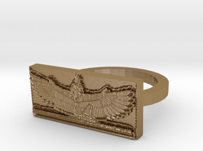 Maat Egyptian Godess Ring 3d printed