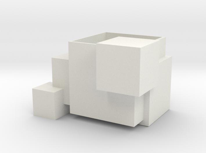 Odd Cubic planter 3d printed