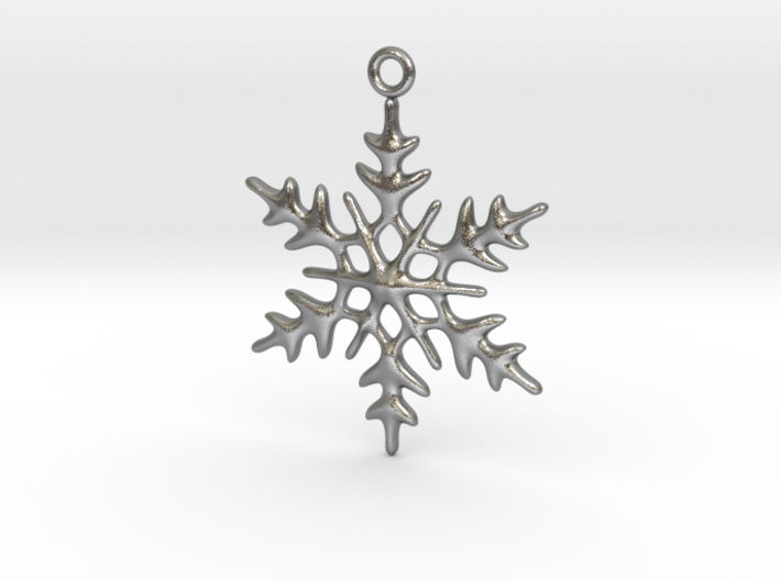 Little Romantic Snowflake Pendant 3d printed