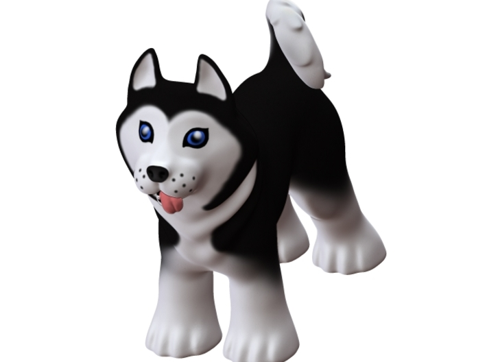 Wittle Husky Doggie 3d printed