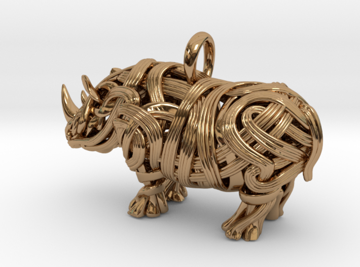 The Rhino Pendant 3d printed