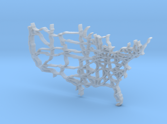 US Map 70mm version 3d printed