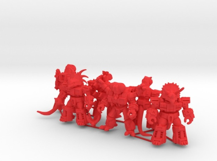 MiniCreatures: Six Pack 1 3d printed Render, opposite view
