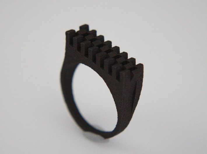 Tri-Fold Edge Ring - US Ring Size 07 3d printed