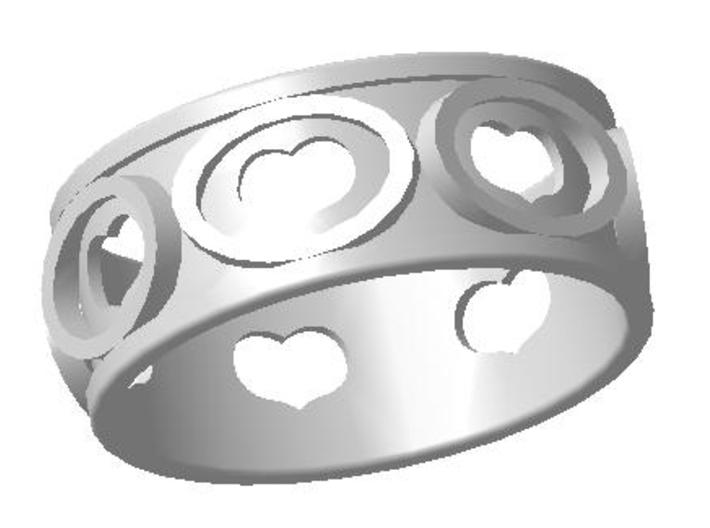 Ring5 3d printed Ring heart